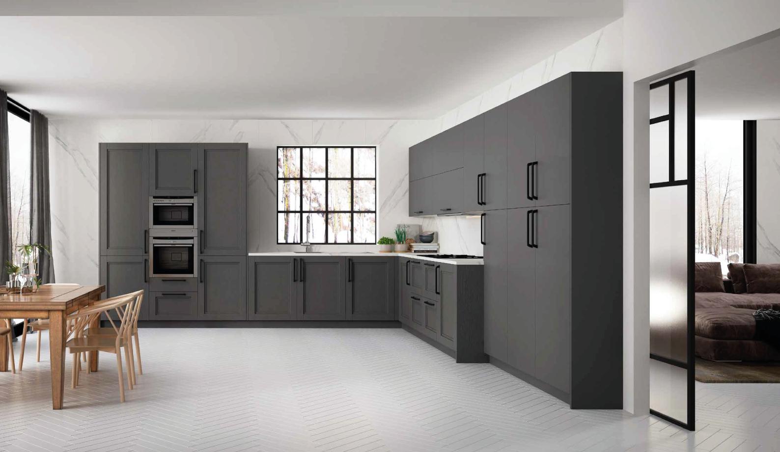 Cozinha moderna cinzenta