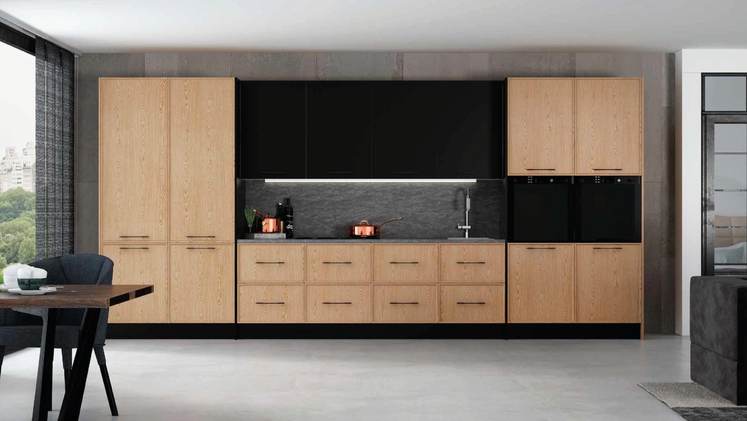 Cozinha moderna madeira clara