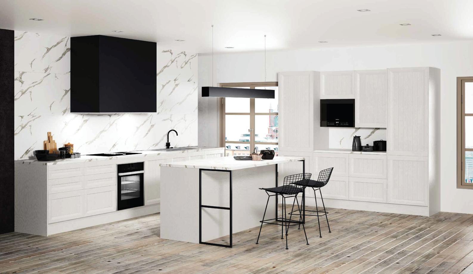 Cozinha moderna com ilha.