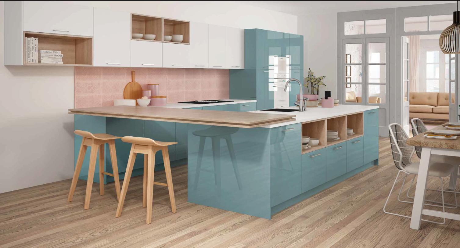 Cozinha moderna em azul