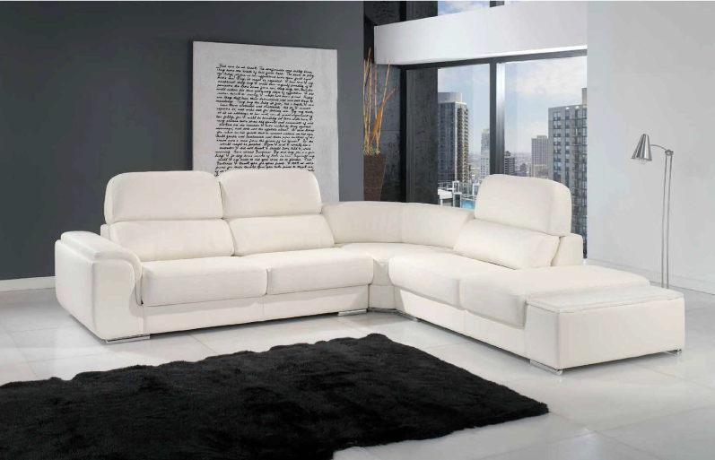 Sofá branco para apartamento moderno