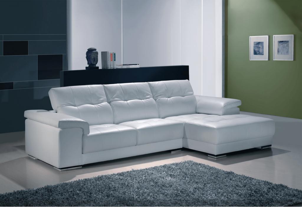 Sofá branco de pele - design de interiores